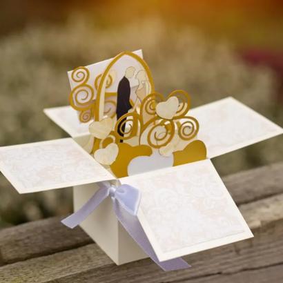 Свадебная коробочка скрапбукинг открытка