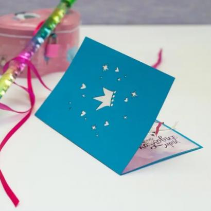 3d детская открытка сказочный замок