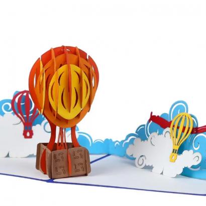 Дизайнерская открытка 3D воздушный шар