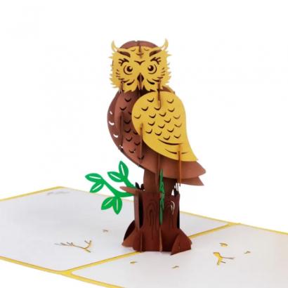 3d открытка сова своими руками