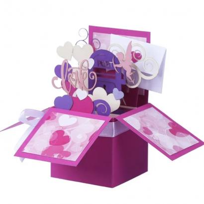 Объемная открытка коробочка Love