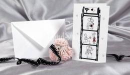 Оригинальная свадебная открытка