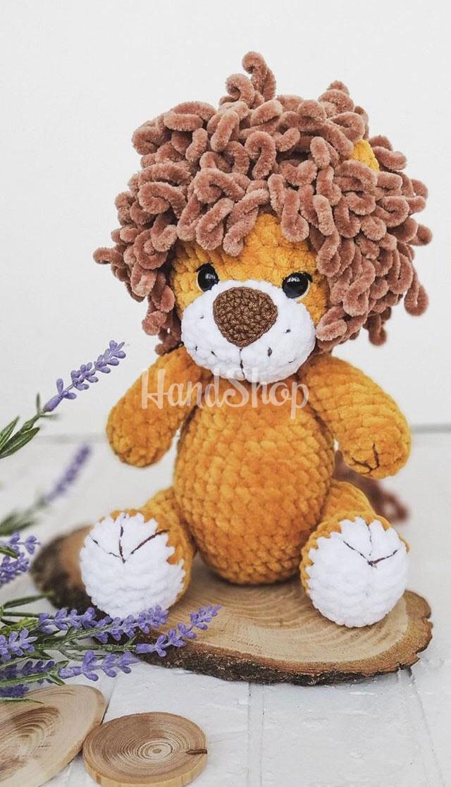 Большой лев мягкая игрушка