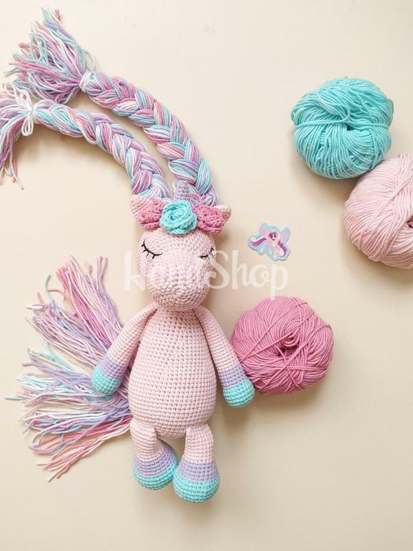 Розовый единорог игрушка мягкая