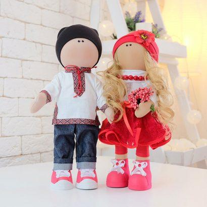 Украинская кукла текстильная большая