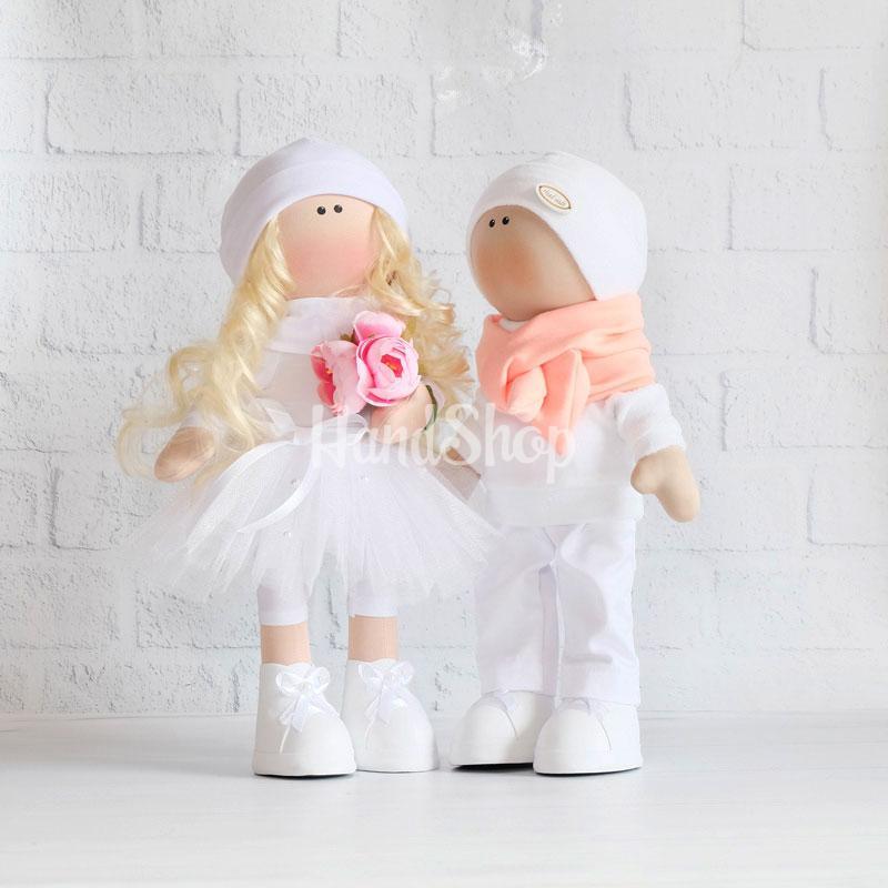 Куклы свадебная пара Жених и Невеста