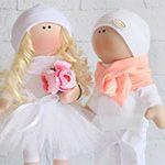 Куклы свадебные пара