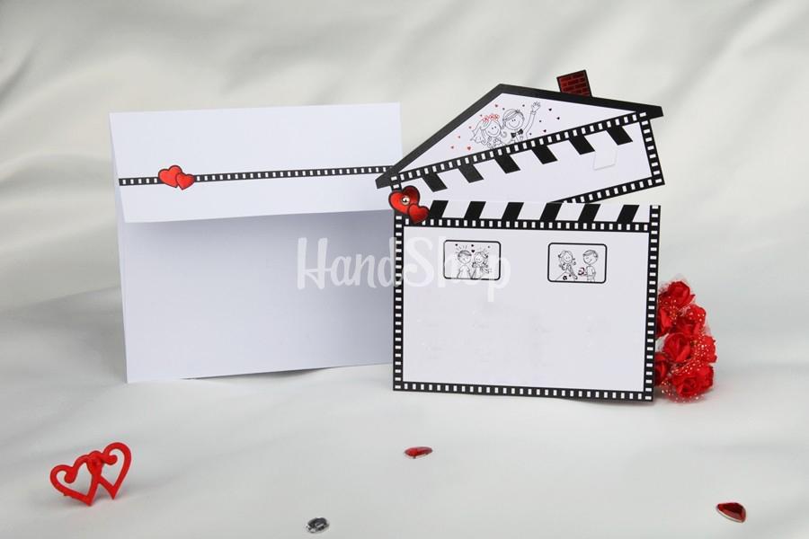 Свадебная открытка тема кино