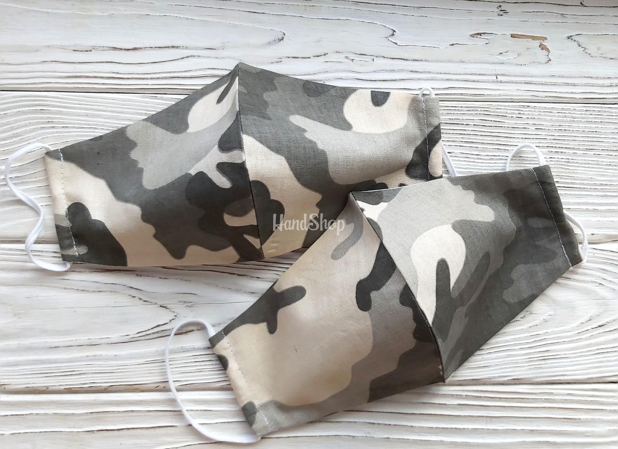 Мужские защитные маски для лица хаки