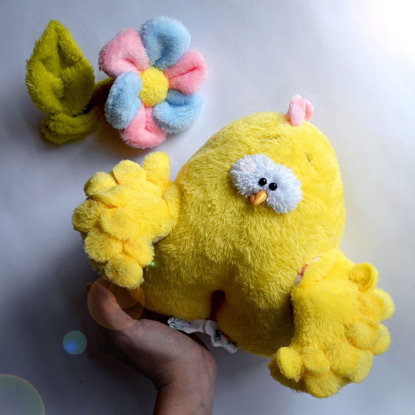 Игрушка цыпленок курочка мягкая